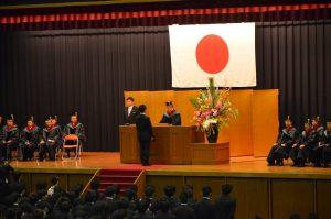 2012年度学位記授与式1